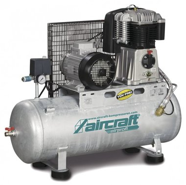 Horizontal stationay piston compressor 4kw - 10 bar - 270 litres - 520l/min