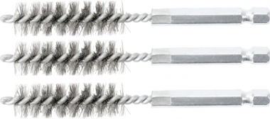 Steel Brush | 13 mm | 6.3 mm (1/4) Drive | 3 pcs.