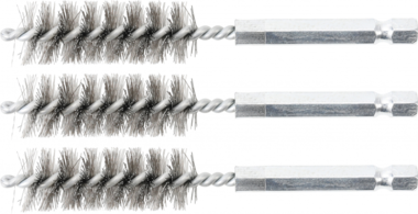 Steel Brush | 15 mm | 6.3 mm (1/4) Drive | 3 pcs.