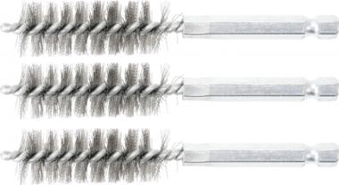 Steel Brush | 16 mm | 6.3 mm (1/4) Drive | 3 pcs.
