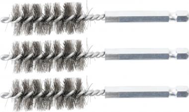 Steel Brush | 17 mm | 6.3 mm (1/4) Drive | 3 pcs.