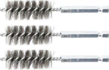 Steel Brush | 18 mm | 6.3 mm (1/4) Drive | 3 pcs.