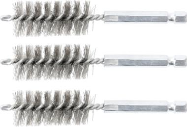 Steel Brush | 19 mm | 6.3 mm (1/4) Drive | 3 pcs.