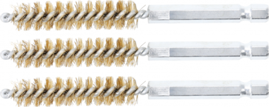 Brass Brush | 11 mm | 6.3 mm (1/4) Drive | 3 pcs