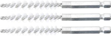 Nylon Brush | 8 mm | 6.3 mm (1/4) Drive | 3 pcs