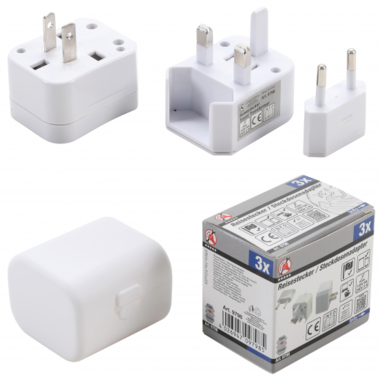 Travel Plug Adaptor | 3 pcs.