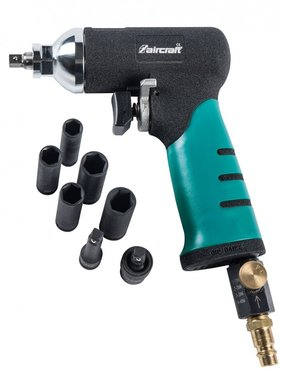 Set of 1/4 impact wrenches + 5 40nm long sockets