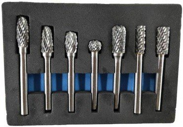Milling set tungsten carbide 7-piece