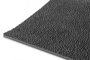 Rubber per running meter 1mx1200mmx3mm rice grain black