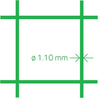 Aviary mesh PVC 13x1.1 50 cm x 10 m