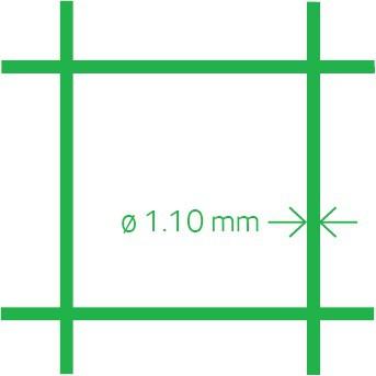 Aviary mesh PVC 13x1.1 100 cm x 10 m