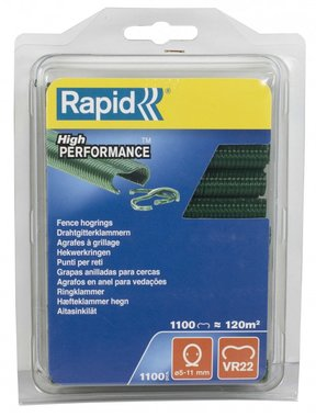 Rapid stapling VR22 green coated 1100 pieces