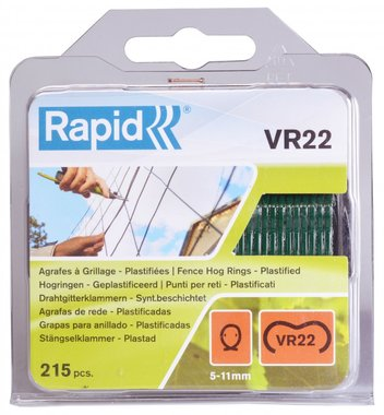 Rapid stapling VR22 green coated 215 pieces
