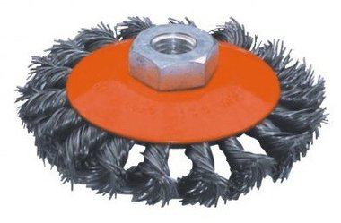 Flat steel brush twisted diameter 125mm