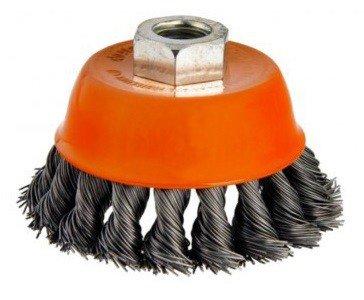 Steel brush bowl shape twisted diameter 65mm