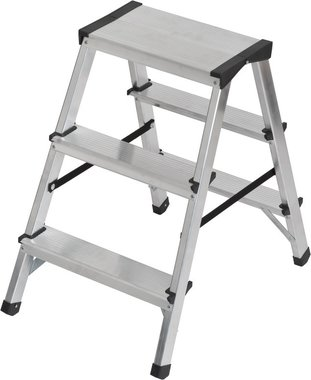 Double stepladder aluminium 2x3 rungs Height ladder 0,61m