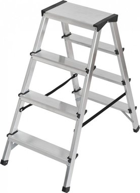 Double stepladder aluminium 2x4 rungs Height ladder 0,82m