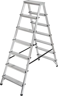 Double stepladder aluminium 2x7 rungs Height of the rung ladder 1,46m