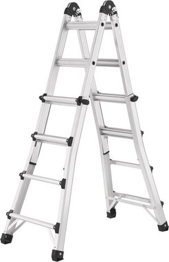 Multifunctional Aluminium telescopic ladder 4x4