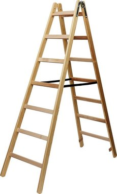Wooden ladder 2x8 rungs Height of the frame ladder 2,11m