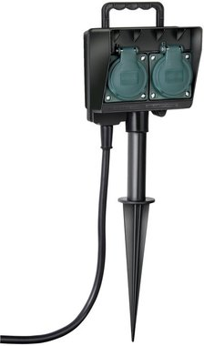 Garden socket with earth skewer IP44 2-gang 1.4m H07RN-F 3G1.5