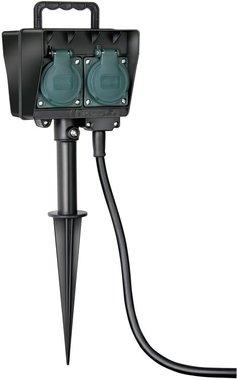 Garden socket with earth skewer IP44 4-gang 1.4m H07RN-F 3G1.5