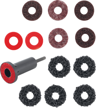 Wheel Hub Grinder Set for Studs and Wheel Nut Bolts 14 pcs.