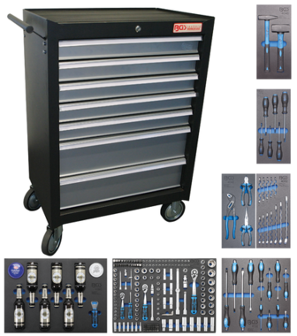 Tool trolley 7 drawers with 227 tools