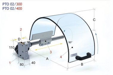 Chuck guard with monolithic screen diameter 400mm