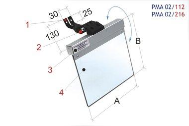 Eye protection cover for bench grinders / belt grinders 160-145mm